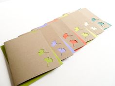 Ginkgo Delight - Handmade Blank Note Card Set - nature, ginkgo leaves - newnanc, Nouveau Nancy