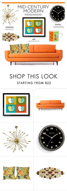 """Clean Spaces: Mid-Century Modern"" by lgb321 ❤ liked on Polyvore featuring interior, interiors, interior design, home, home decor, interior decorating, Joybird, Newgate, Magpie & Jay and modern"