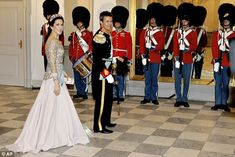 2015.04.15: Crown Princess Mary and Crown Prince Frederik attended a gala dinner in celebration of Queen Margrethe's 75th birthday at Christiansborg