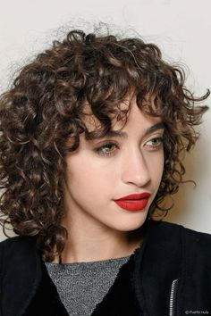 curly bangs - Google Search