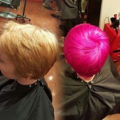 Color by Nelson Segarra  #bright #vibrant #pravana #pink #hair #fun #funcolor #colorful #unicorn #pixie #haircut #inspiration #trendy #hotpink #mermaid #alternative #alternativehair #punkhair