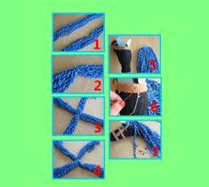 DIY: Steckenpferd aus Socke, Watte und Besenstiel basteln. Kreativ mit Kindern.