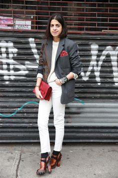 It's Hip to be (Pocket) Square - Man Repeller Tailoring Jeans, Socks And Heels, Black Socks, Tomboy Chic, Looking Dapper, Man Repeller, Editorial Fashion, Fashion Trends, Women's Fashion