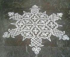 Kolam Simple Rangoli Border Designs, Rangoli Borders, Free Hand Rangoli Design, Small Rangoli Design, Rangoli Kolam Designs, Rangoli Ideas, Rangoli Designs With Dots, Rangoli Designs Images, Kolam Rangoli