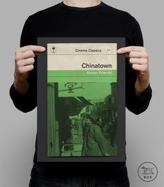 Penguin Books Classics Movie Poster CHINATOWN ROMAN POLANSKI High Quality Giclee Print Ikea Ribba Size