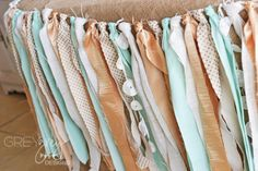 Project Nursery - Mint and Gold Tassle Garland