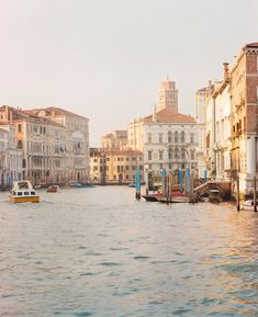 Evening light on the Grand Canal in Venice.