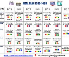 Hustle & Heart Fitness | Meal Plan - Fix, Hammer & Chisel, 22 Minute Hard Corps