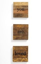 Second Nature by Hand 'you. are. loved.' Repurposed Wood Wall Art