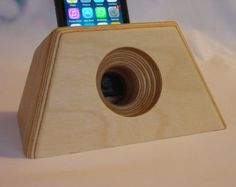 iPhone acoustic charging and docking station by WickedWoodcrafts