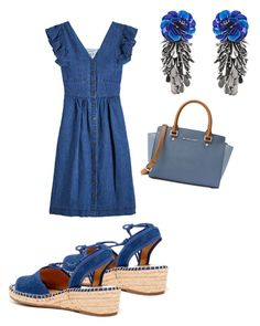 """""""Untitled #22"""" by keighley-zimmerman on Polyvore featuring Sea, New York, Franco Sarto, MICHAEL Michael Kors and Forest of Chintz"""