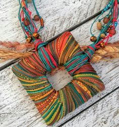 Jewerly making ideas pendants jewellery ideasYou can find Pendants and more on our website. Fiber Art Jewelry, Mixed Media Jewelry, Textile Jewelry, Fabric Jewelry, Jewelry Art, Beaded Jewelry, Handmade Jewelry, Jewellery, Fabric Necklace