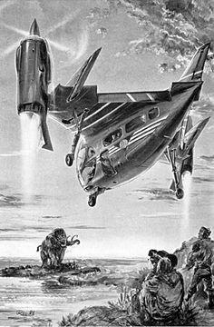70s Sci Fi Art, Days Of Future Past, Classic Monsters, Retro Futuristic, Science Fiction Art, Weird World, Sci Fi Fantasy, Retro Art, Dieselpunk