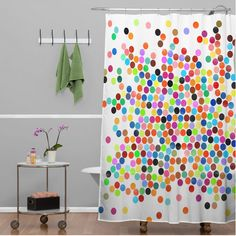 Spruce Up Your Bathroom & Rotator Rod Shower Rod with Springtime Shower Curtains from Bathroom Bliss by Rotator Rod