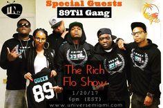 01/20 -- Catch the whole 89Til Gang LIVE w/ @richflonate on the Rich Flo Show @ http://ift.tt/1fqhk8p TV 6pm-8pm   @rippadakid  @faynmusic @louie_lou_89til @kamilah_shani @jaemazor @itsorionpaxx @troymurraymusix