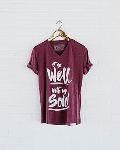 "This design comes from the hymn ""It Is Well With My Soul"" written by Horatio Spafford and composed by Philip Bliss. Written in a time of great personal distress, Spafford's lyrics are a great reminder"