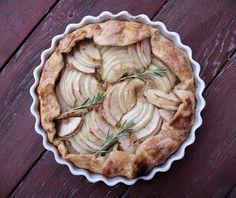 Rosemary Honey Apple Galette Recipe | mostly foodstuffs