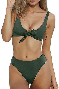 Women Padded Bikini High Cut Bathing Suit Skirt Swimsuit Swimwear Beachwear Swimming Suit Highly Polished Bikinis Set