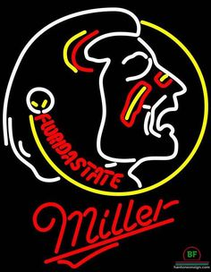 Miller Lite Florida State University Florida State University Neon Sign NCAA Teams Neon Light