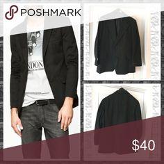 Men's Wool Blazer Dark gray men's Wool Blazer, 2 button closure, 3 buttons on cuffs, Dry Clean Only custom Suits & Blazers Sport Coats & Blazers
