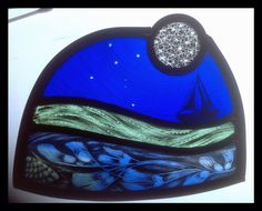 Small stained glass panel designed and made by Sarah Roberts Stained Glass Art…