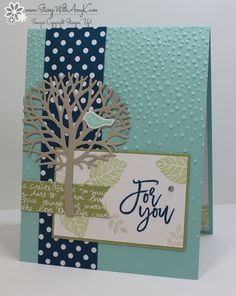 I used the Stampin' Up! Thoughtful Branches stamp set bundle for the Sunday Stamps color challenge this week.