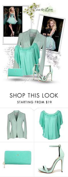 """Light Green Sherri Hill 11131 Tulle Homecoming Dress"" by edarice-ru ❤ liked on Polyvore featuring Sherri Hill, L'Autre Chose, Giudi and Fahrenheit"