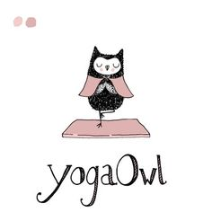 'Yoga Owl' by Marie-Noëlle Horvath