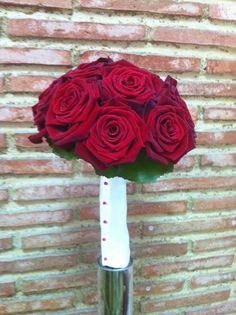 Ramo novia rosas rojas holandesas Palabra de www.palmiracompilar.com #homenajeatuangel