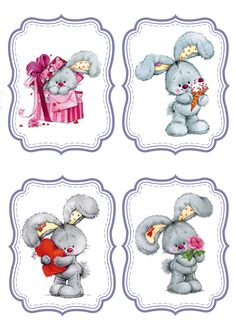 Crochet&Knitting For Happy Baby Cute Images, Cute Pictures, Bunny Images, Easter Crafts, Holiday Crafts, Tatty Teddy, Decoupage Paper, Christmas Tag, Cute Drawings