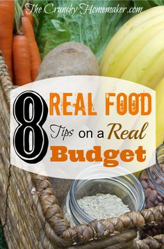 Real Food Tips on a Real Budget helped my family of 7 save tremendously on groceries. I hope these tips can help you and your family eat a little healthier on a budget.