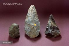 Yooniq images - Left to right: Pebble tool from Olduvai about 1.7 million years old