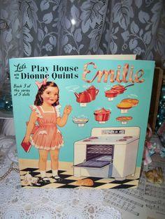 Vintage Style Paper DollsEmilee by fleamarketfloozie on Etsy, $10.00