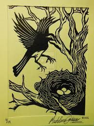 linoleum block printing - Google Search