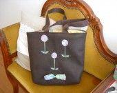 petit sac en feutrine marron pour petite fille : Autres sacs par sacs-re-creation