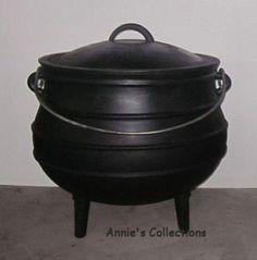 Cast Iron Cauldron Potjie Pot Sz 4 Outdoor Survival Gypsy Kettle Rituals  #Unbranded