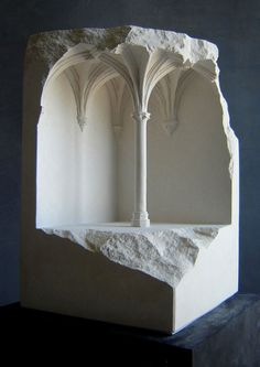 Sculptor Matthew Simmonds Carves Realistic Interiors Into Marble and Stone