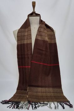 Men's Scarf, Double faced Scarf, Brown Wool Men's Scarf,  Brown Scarf, Chashmere Men's Scarf - SC077 #handmadeatamazon #nazodesign