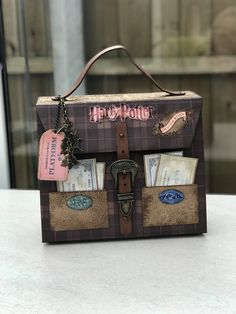 Excited to share the latest addition to my #etsy shop: Harry potters travel bag big mini album #diagonalalley #hogwarts