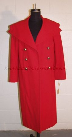 Coat, wool, Pauline Trigère designer, American, 1957