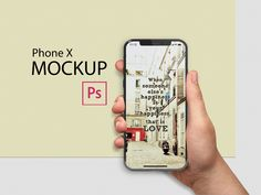 Free iPhone X in Hand. Advanced, easy to edit mockup. It contains everything you need to create a realistic look of your project.