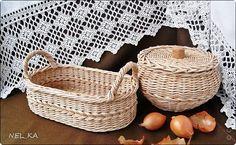 Поделка изделие Плетение Уютная кухня   Бумага газетная Трубочки бумажные фото 1