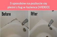 5 sposobów na pozbycie się pleśni z fug w łazience [VIDEO] Cleaning Hacks, Bathtub, Owl, Standing Bath, Bathtubs, Bath Tube, Owls, Bath Tub, Tub