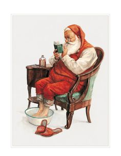 Small Fine Art Print CHRISTMAS Checking by StudioJBMongeGoblin