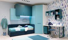 Bridge bedroom set by Moretti Compact einrichten … - Modern Modern Kids Bedroom, Cool Kids Bedrooms, Kids Bedroom Designs, Kids Bedroom Sets, Kids Bedroom Furniture, Room Decor Bedroom, Girls Bedroom, Wardrobe Cabinet Bedroom, Wardrobe Design Bedroom