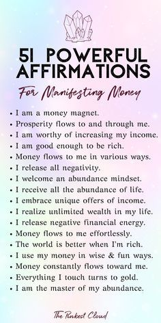 Wow money affirmations to manifest wealth, prosperity and abundance using the secret law of attraction manifesting techniques are incredible to manifest money, manifest wealth, manifest abundance, law. Positive Affirmations Quotes, Wealth Affirmations, Morning Affirmations, Affirmation Quotes, Affirmations For Money, Healing Affirmations, Quotes Positive, Positive Thoughts, Wisdom Thoughts
