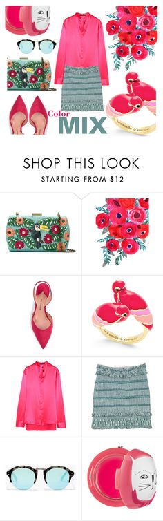 """Color MIX"" by ddalginanabeauty ❤ liked on Polyvore featuring Serpui, Paul Andrew, Kate Spade, Haider Ackermann, Tory Burch and Madewell"