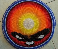 Sundance medallion  Bearflats Beads and More Elaine Buchanan Bear