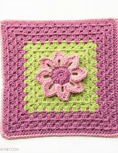 Water Lily Afghan Square Crochet Pattern