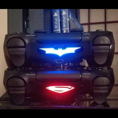 Nice!!!! Mine and my wifes controllers...and FYI...im batman ps4 http://xboxpsp.com/ppost/309481805630604083/